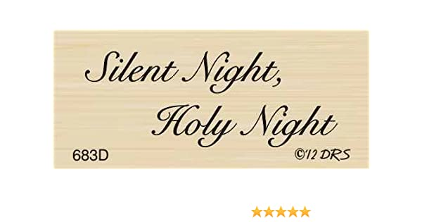 Silent Night Greeting Rubber Stamp By DRS Designs