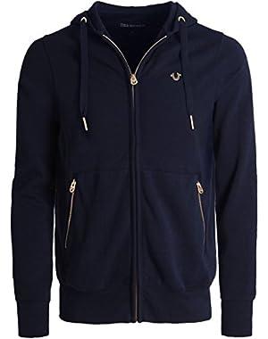 Men's Zip-Through Hoodie Blue