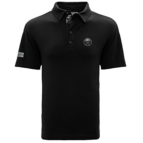 Levelwear LEY9R NHL Buffalo Sabres Men's Reign Dart Polo, XX-Large, Black (Mens Shirts Buffalo Sabres)