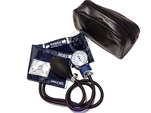Pediatric Cuff - EMI Pediatric Aneroid Sphygmomanometer Blood Pressure Monitor with CHILD Sized Cuff and Carrying Case EBC-215