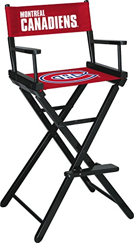 Imperial Officially Licensed NHL Merchandise: Directors Chair (Tall, Bar Height), Montreal Canadiens (Wooden Garden Exclusive Furniture)