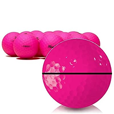Taylor Made Noodle Neon Matte Pink AlignXL Personalized Golf Balls