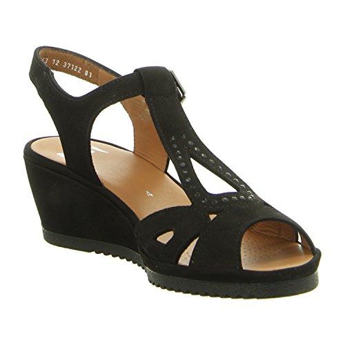 Femmes Sandalettes SCHWARZ noir, (schwarz) 12-37122-01