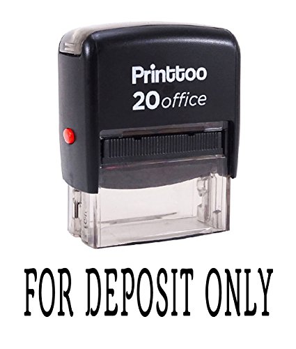 Printtoo Self Inking FOR DEPOSIT ONLY Rubber Stamp Office Stationary Custom Stamp-Black - Deposit Only Rubber Stamps