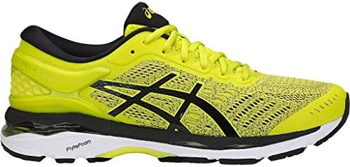 ASICS Men s Gel-Kayano 24 Running Shoes, 11.5M, Sulphur Spring Black White