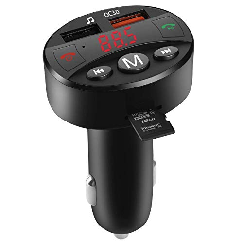 tter for Car, Difini Wireless in-Car Radio Transmitter Adapter Car Kit with USB Car Charger, Car MP3 Music Player Support TF Card and USB Flash Drive ()