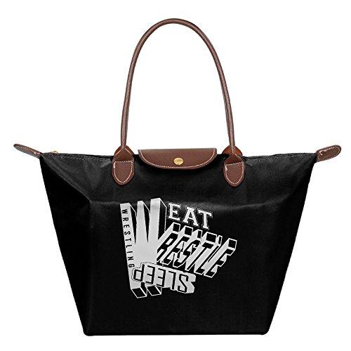 Longchamp Collocational Eat Sleep Wrestle Wrestling Tote Bag Hobo Bag by Franklau9