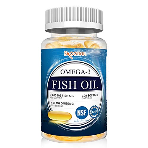 Spoonful Omega 3 Fish Oil 2000 mg, 100 Capsules, Rapid Release Softgels, NSF - Certified