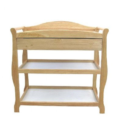 Sleigh Style Wood Changing Table with Drawer by LA Baby