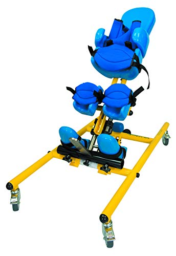 Supine Stander - Tumble Forms 2 TriStander 45 without Tray, Yellow Frame Standing Device Positions Children in a Supine, Prone, or Vertical Position with Wheels for Mobility, Multi-Stander, 3-in-1 Safely Holds Child