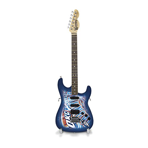 City Thunder Mini Basketball - Woodrow Guitar by The Sports Vault NBA Oklahoma City Thunder Mini-NorthEnder Electric Guitar