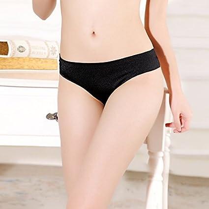 RangYR Pantalones sin marcar de una sola pieza, ropa interior, color liso, cintura