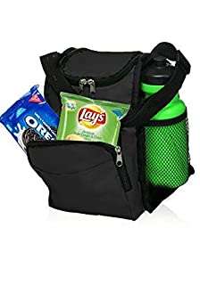 Insulated Lunch Bag with Adjustable Shoulder Strap by Sacko (Black) For Men, Women, Kids. Great Lunchbox for Girls, Boys and for School, Work. ... (B00SVX6N40) | Amazon price tracker / tracking, Amazon price history charts, Amazon price watches, Amazon price drop alerts