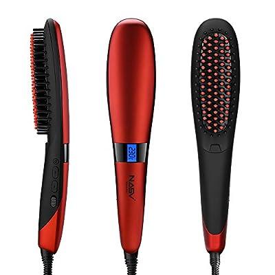 Elehot Nasv Electric Hair Straightening Brush (450?/230°C Adjustable Temperature, Rapid Heating Technology, Suitable for 100V-240V, Auto Lock, Anti-scald )