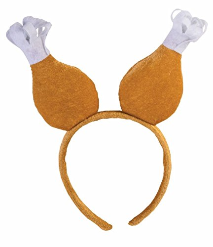 Frank The Bunny Costume Small (Turkey Drumstick Chicken Headband Boppers Thanksgiving Adult Costume Accessory)