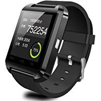 Black Waterproof Bluetooth Wrist Smart Watch Phone Mate Handsfree Call For Smartphone Outdoor Sports Pedometer...