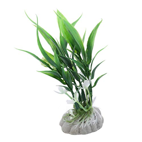 - YouCY Water Grass Fish Tank Landscaping Simulation Plant Ornamental Plastic Short Water Grass Bamboo Leaves Aquarium Landscaping,Green