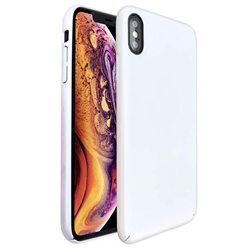 Molzar [Shiny Series] iPhone Xs/X Case, UV Glossy Finish Grip, Hard Plastic PC with Soft Microfiber Cloth Lining Cushion, Compatible with Apple iPhone Xs/X, 5.8