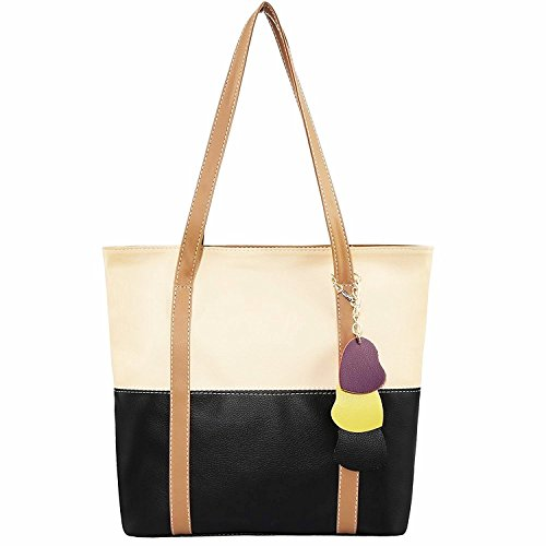 Minch Cute Mixed Color Pu Leather Designer purses and handbags for Women Work on clearance