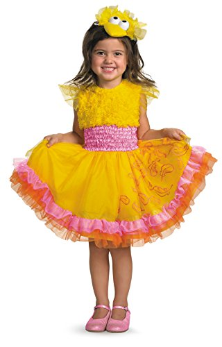 [UHC Cute Girls Sesame Street Frilly Big Bird Fancy Dress Toddler Child Costume, 3T-4T] (Toddler Boy Big Bird Costume)