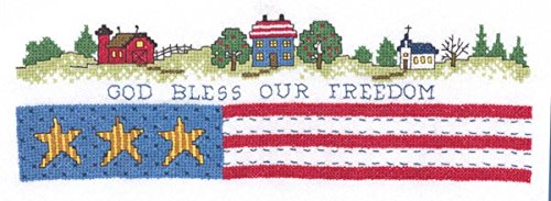 - God Bless Our Freedom Cross Stitch Chart and Free Embellishment