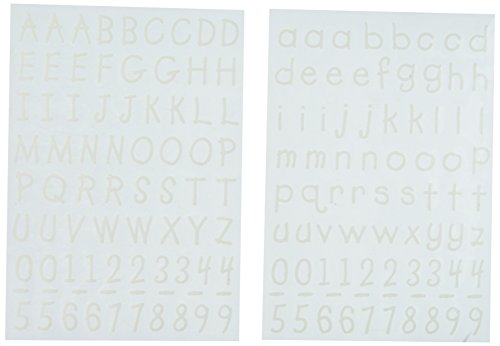 (Uptown Baby Flock Color Iron-On Transfers, 92506 White Alphabet)