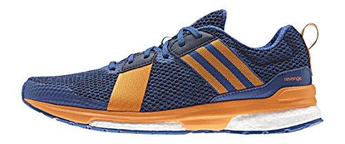 adidas Revenge M, Zapatillas de Running para Hombre Azul / Naranja / Negro (Eqtazu / Eqtnar / Maruni)