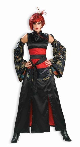 [Forum Novelties Women's Dragon Mistress Costume, Black/Red, Standard] (Halloween Costumes For Asian Women)