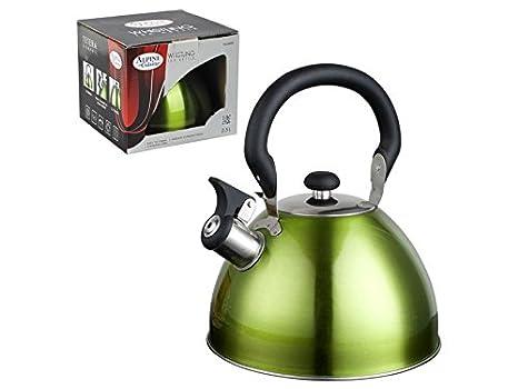 Amazon.com: 2,5 Litro té Hervidor de agua silbante de acero ...