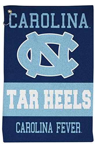 WinCraft NCAA University of North Carolina UNC Tar Heels Sport Towel with Metal Grommet and Hook, 16x25 inches