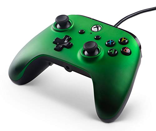 PowerA XB1 Enhanced Wired Controller-Emerald Fade