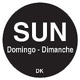 DayMark 1100597 DuraMark Trilingual 3/4'' Sunday Day Circle - 2000 / RL