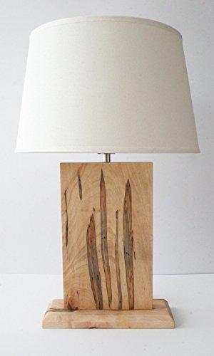 Natural Grain Table Lamp - Wormy Maple (Ambrosia)