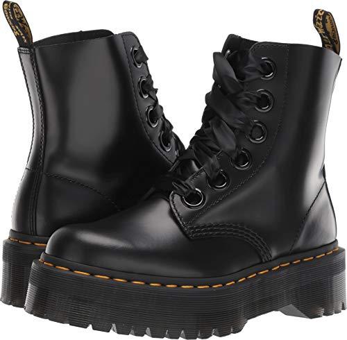 - Dr. Martens Women's Molly 6 Eye Boots, Black, 9 M US