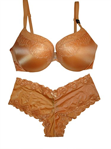 Gold Lace Bras (Victoria's Secret V/S Sexy Plunge Front Strappy Back Bra(Many Colors and Sizes) (Gold Shimmer Lace, 36D))