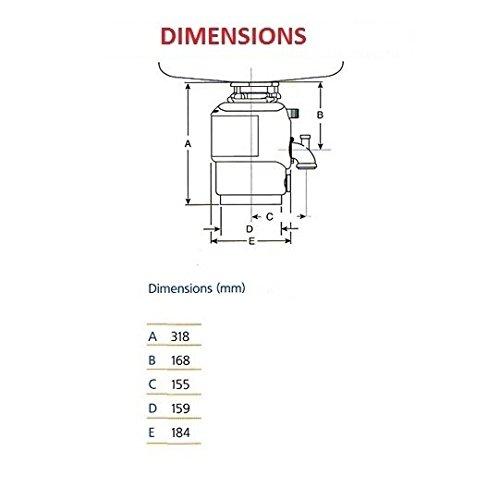 InSinkErator 77971h Modelo 66/basura con interruptor de aire integrado