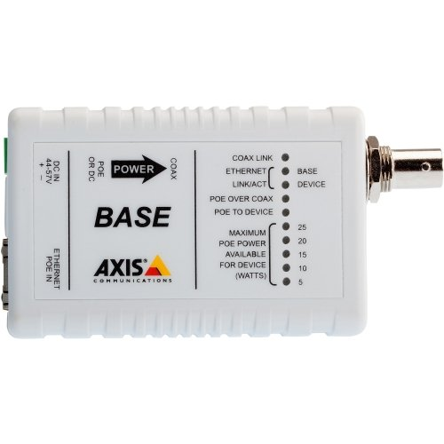 AXIS 5026-401 T8640 Ethernet Over Coax Adaptor PoE+ - media converter by AXIS