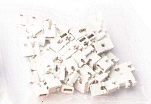 2.54mm Standard Computer Jumper Caps 100pack - White by CorpCo