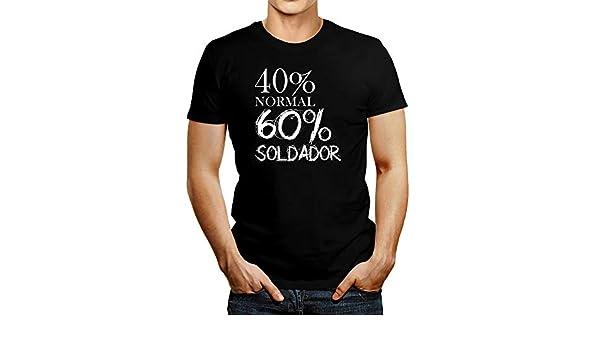 Idakoos 40 Por Ciento Normal 60 Por Ciento Soldador - T-Shirt | Amazon.com