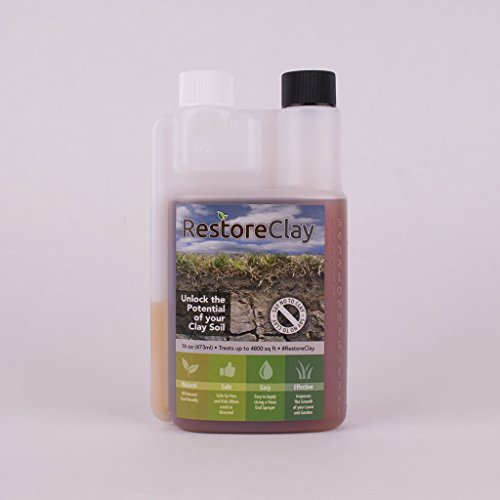 (RestoreClay Amend Clay Soil 16 oz (Sm Lawn or Garden) A Natural and Effective Clay Soil Amendment.)