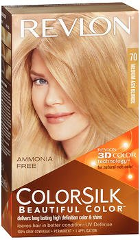 Revlon ColorSilk Hair Color 70 Medium Ash Blonde 1 Each (Pack of 3)