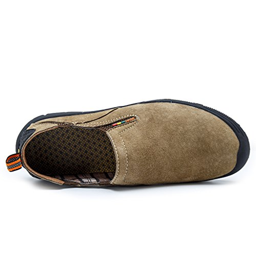 Ivao Heren Wandelen Jungle Moc Slip-on Loafer Schoenen Kaki