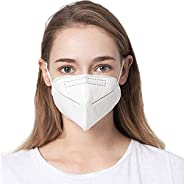 COOLINKO White Filter Face Cover 5-Layers with Earloop Band - Fashion Cotton Mouth Muffle Guard Head Accessory