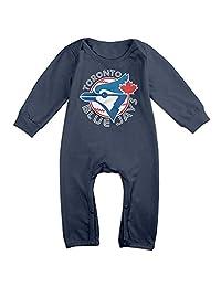 Toronto Blue Jays BABY Geek Long Sleeves Baby Onesies Bodysuit For Toddler