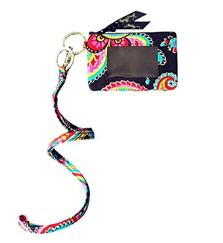 Vera Bradley Zip Id Case and Lanyard in Parisian Paisley
