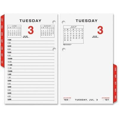 AT-A-GLANCE E01750 Two-Color Desk Calendar Refill, 3 1/2 x 6, 2016