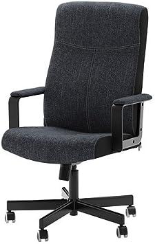 Ikea Malkolm Chaise pivotante, tissu, noir