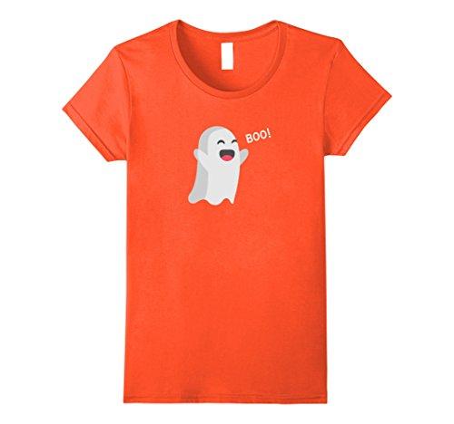 Womens BOO GHOST - Halloween Cute Friendly Graphic T-Shirt Medium (Cute Halloween Graphics)