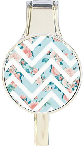 Floral Purse Hanger - Floral Chevron Pattern Everything Purse Hanger Handbag Hook Retractable Folding