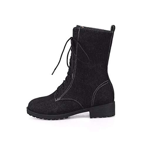 Aikaka America Europa Black Autunno Boots Sexy Denim Nel Donne E In Inverno Caldo Stivali Tubo Martin TxTr1F